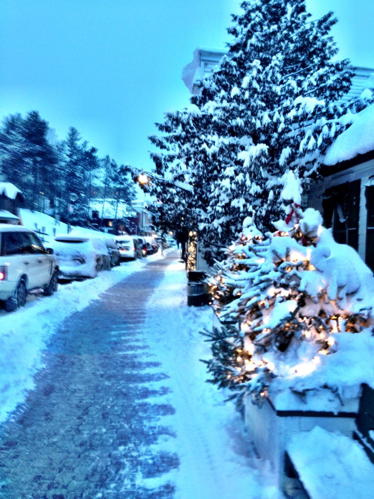 {Main Street in downtown Lake Placid.}