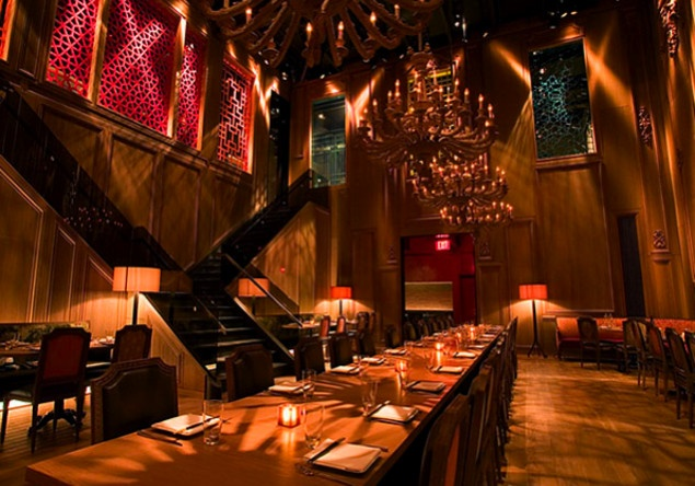 {The downstairs area at Buddakan.}