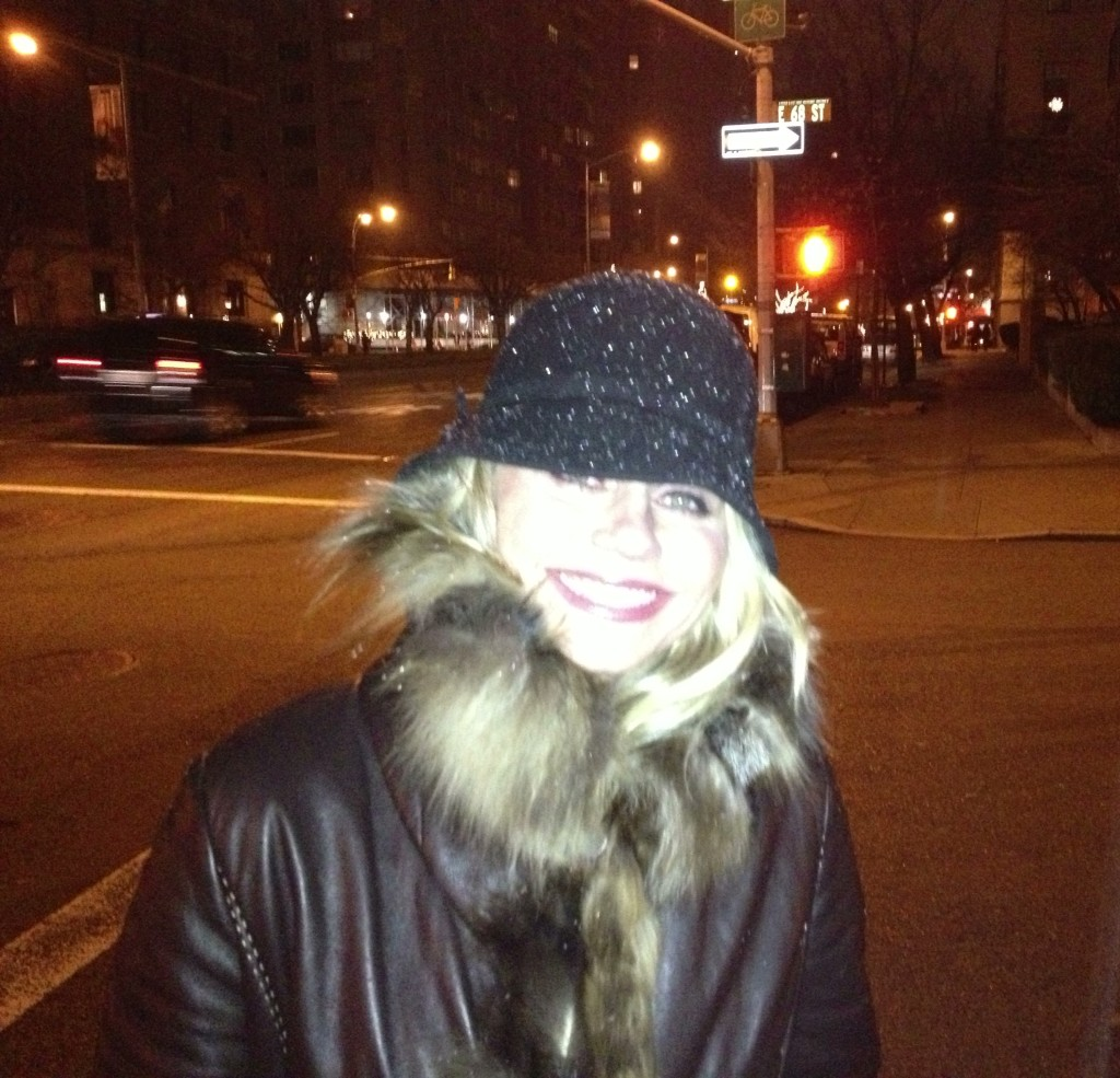 {Snow on the way to the Carlyle!}
