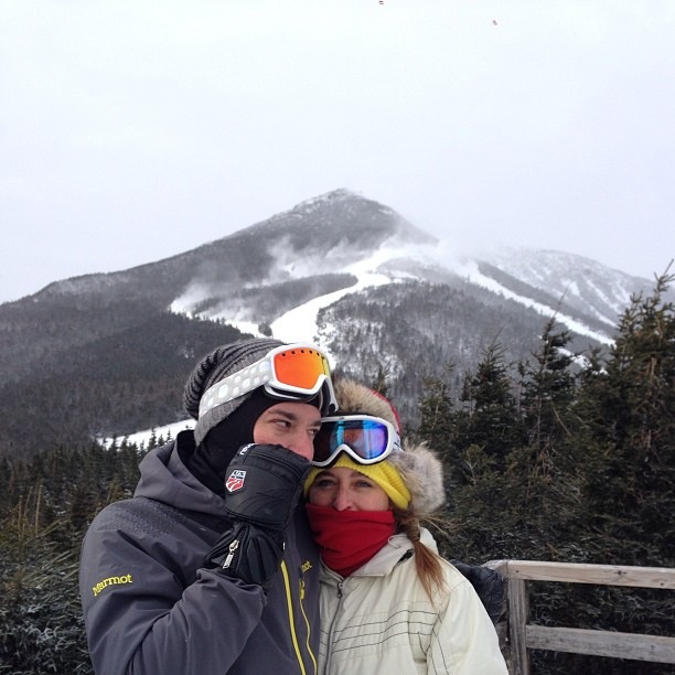 {Jimmy Fallon near Whiteface Mountain.}