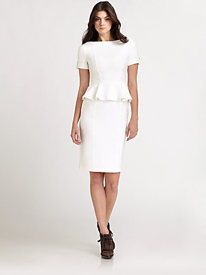 {Burberry London Peplum Dress available at Saks.}