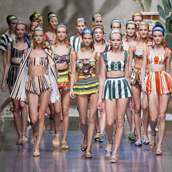{Dolce & Gabbana Spring 2013. Prints and color are all the rage.}