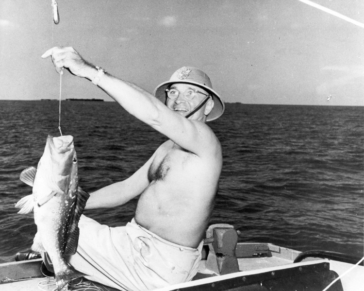 {Truman fishing off Key West.}